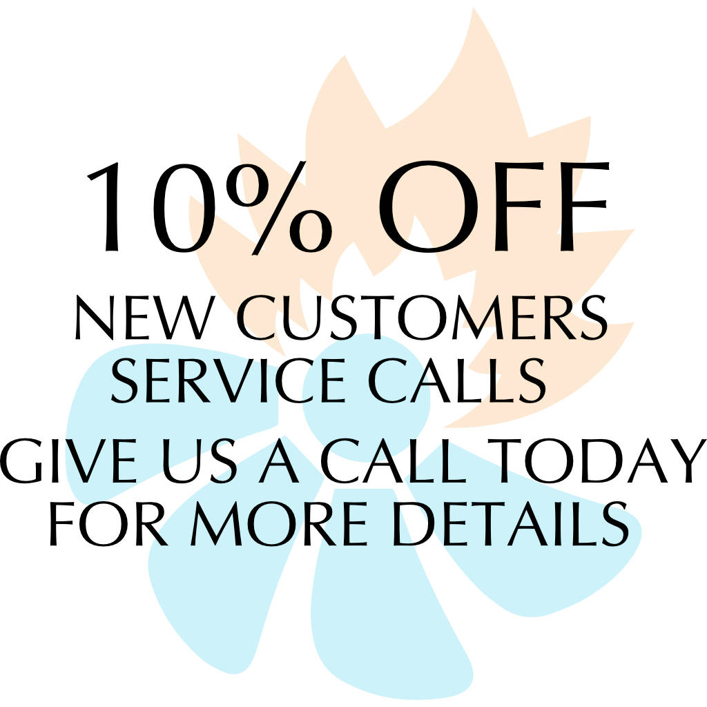 10 percent off new customers AC service calls